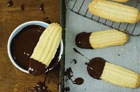chocolate dipped viennese finger biscuits recipe goodtoknow