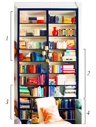 Arrange Bookshelves by Organizing Books By Color And By Genre Little Green Notebook