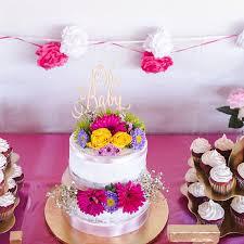 gender reveal cake baby shower cake oh baby cake topper baby