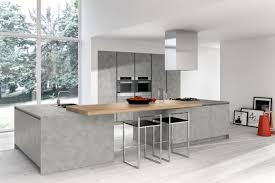 cuisine avec ilot central arrondi ilot central cuisine table cuisine avec jambage blanc et plan de