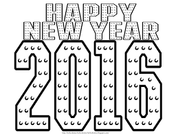 new years coloring pages funycoloring