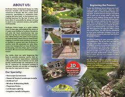 las vegas patio covers brochure design landscaping advertisers
