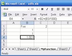 how to define functions in excel without visual basic a compiler