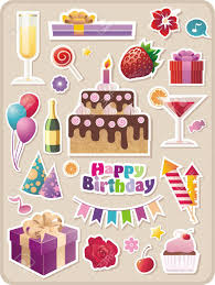 birthday stickers collection of birthday stickers royalty free cliparts