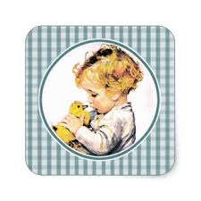 baby s easter gifts vintage easter chicken stickers zazzle