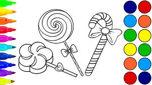 learn colors with candy coloring pages for kids coloring book