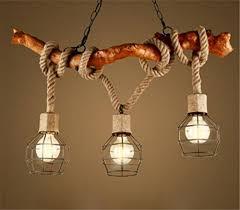 Nostalgische Esszimmerlampen Kronleuchter Seil 3 Flammig Loft Lampe Retro Pendelleuchte