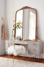 Modern Chic Bedroom by Modern Chic Bedroom Make Up Vanity With Mirrored Finish And
