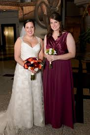 show bordeaux burgundy wine colored bridesmaid