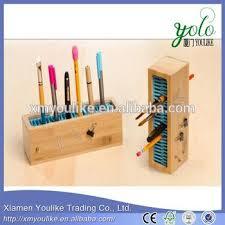 Magnetic Desk Organizer Pen Holder Storage Pencil Bamboo Magnetic Desk Organizer Office
