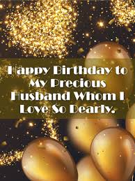 card for husband shining gold happy birthday card for husband birthday greeting