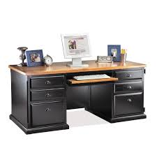 Wooden Corner Desk Top Have Slide Out Drawer For Keyboard by Furniture Stunning Ideas Of Black Desk With Drawers Show