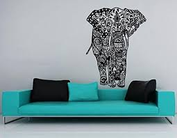 Moroccan Wall Decal by Elephant Wall Art Decals Indian Pattern Decal Vinyl Sticker Room