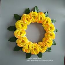decorative wreaths for the home 2018 16 inches orange peony wreaths home amp wedding front door