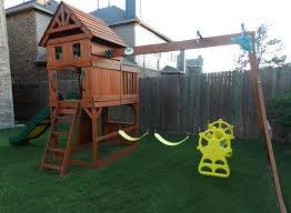 backyard discovery prestige all cedar wood playset pics on