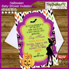 baby shower invitations fascinating halloween baby shower