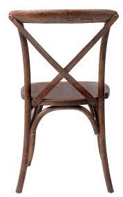 Cross Back Chair Rustic Sonoma Solid Wood Cross Back Stackable Dining Chair