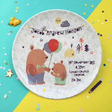 baby birth plates mr personalised baby birth plate by ethel and co