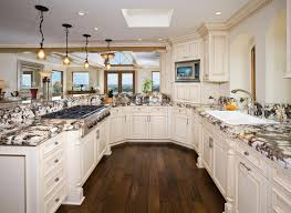 modern white nuance of the gallery kitchen ideas that has wooden