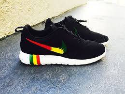 rosh run womens and mens custom rastafari color nike roshe run custom
