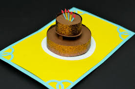 chocolate cake birthday pop up card creative pop up cards