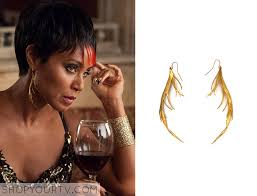 one feather earring gotham shop your tv