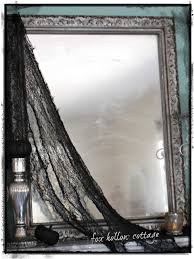 how to make any mirror spooky for halloween fox hollow cottage
