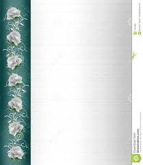 invitation border white wedding roses royalty free stock photo