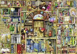 halloween jigsaw puzzle amazon com ravensburger bizarre bookshop 2 jigsaw puzzle 1000