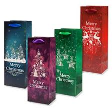 wine bottle gift bags 12 christmas wine bottle gift bags with glitter by