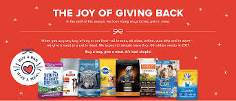 pet food donations buy a bag give a meal to shelters petsmart