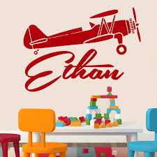 popular nursery wall murals buy cheap nursery wall murals lots customize name boys plane wall decals kids name decal vinyl sticker airplane boy nursery bedroom wall