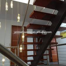 residential customized steel stair stringer solid wood steel