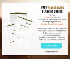 hosting thanksgiving dinner timeline planner momma can