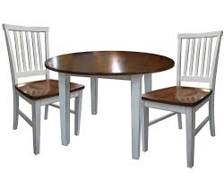 B Home Interiors by 3 Piece Dining Set With Two Drop Leaves By Intercon Wolf And