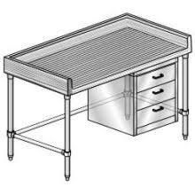 Atlantic Metalworks Stainless Steel Commercial Work Table With - Stainless steel table with backsplash