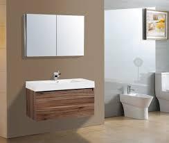 Modern Walnut Bathroom Vanity Aquamoon Venice 39 1 8 Walnut Square Sink Modern Bathroom Vanity