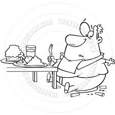 thanksgiving dinner pictures clip art cartoon fat man eating thanksgiving dinner black u0026 white line art