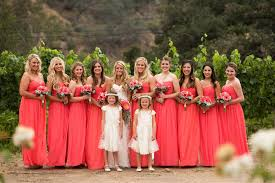 donna bridesmaid dresses donna coral wedding colorful coral wedding flowers