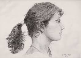 pictures side face sketches pencil drawing art gallery