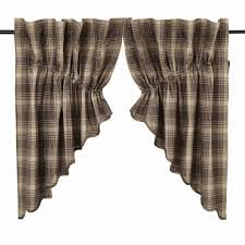 dawson star scalloped lined prairie swag curtains u2013 primitive star