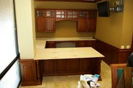 Built In Office Desk Dazzling Custom Built Office Desk Home Cabinets And In Desks