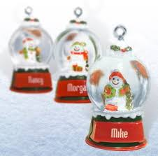 ganz snowglobes glass personalized
