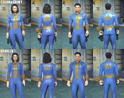 fallout vault jumpsuit clean and shiny vanilla jumpsuit fallout 4 mod fo4