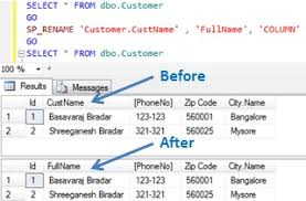 Alter Table Change Data Type Sql Server How To Rename Column Name In Sql Server Sqlhints