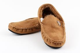 man united inside indoor winter moccasin slippers in brown