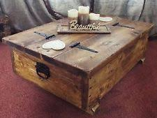 Rustic Chest Coffee Table Chest Coffee Table Ebay