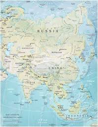 physical map of asia blank map of asia