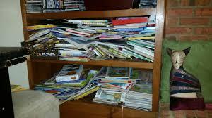 photo blog challenge day 4 messy bookshelves