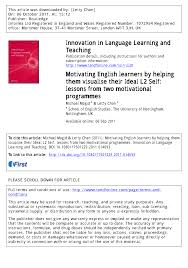 motivating english learners by helping them visualise their ideal